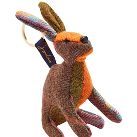 Joules Tweedle Keyring - Brown Hare