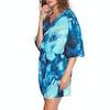Kaftan Seafolly Ocean Ombre - Blue Opal