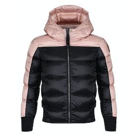 Parajumpers Mariah Girl's Down Jacket - Black - Powder Pink