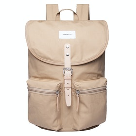 Sandqvist Roald Rucksack - Beige With Natural Leather