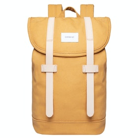 Sandqvist Stig Rugzak - Honey Yellow With Natural Leather