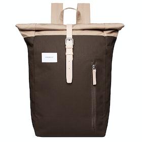 Plecak Sandqvist Dante - Multi Olive Beige With Natural Leather