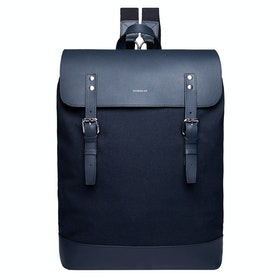 Sandqvist Hege Rucksack - Navy With Navy Leather