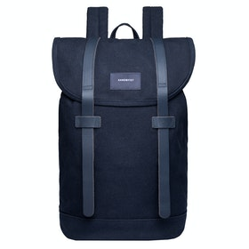 Sandqvist Stig Rucksack - Navy With Navy Leather