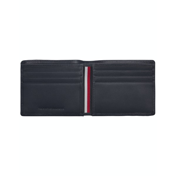 Tommy Hilfiger Stitched Leather Mini Card Wallet