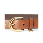 Ralph Lauren Charm Saffiano Women's Leather Belt