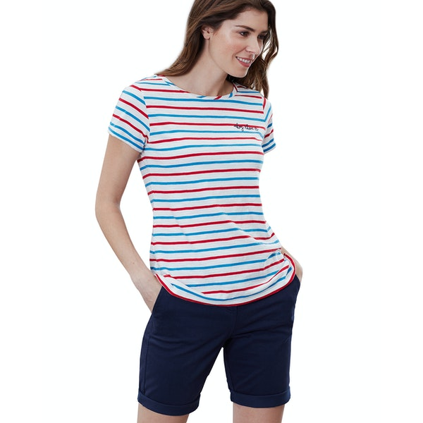Joules Nessa Embroidered Women's Short Sleeve T-Shirt