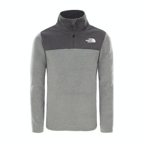 Polaire Enfant North Face Glacier Blocked 1/4 Zip - Tnf Medium Grey Heather