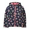 Joules Kinnaird Print Packaway Girls Jacket - Navy Ditsy Floral
