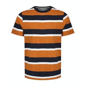 Farah Celtic Stripe Short Sleeve T-Shirt - Gold Marl