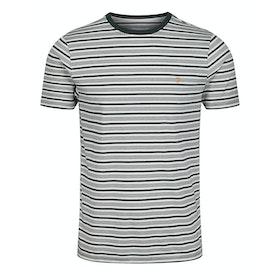 Farah Reeth Stripe Short Sleeve T-Shirt - Deep Olive