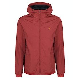 Farah Stones Hooded Waterproof Jacket - Burnt Red