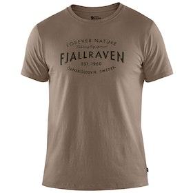 Koszulka z krótkim rękawem Fjallraven Est. 1960 - Driftwood