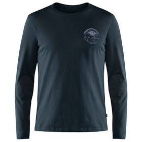 T-Shirt LS Fjallraven Forever Nature Badge - Dark Navy
