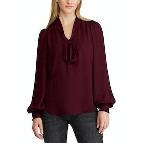Maglietta Donna Lauren Ralph Lauren Aleksei Long Sleeve - Pinot Noir