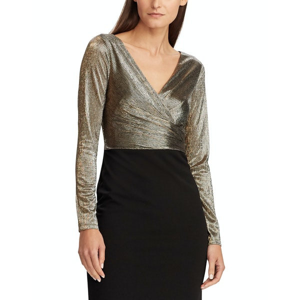 Ralph Lauren Alexie Long Sleeve Cocktail Dress