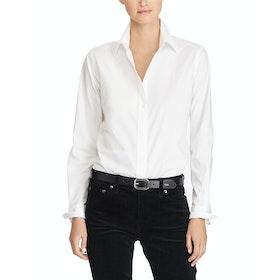 Maglietta Donna Lauren Ralph Lauren No Iron Button Down - White