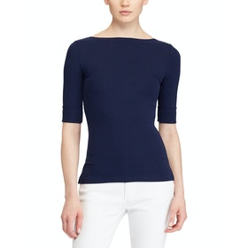 Lauren Ralph Lauren Judy Elbow Sleeve Dames Top - Lauren Navy