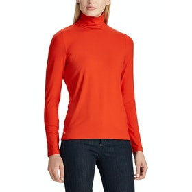 Lauren Ralph Lauren Alana Long Sleeve Dames Top - Sporting Orange