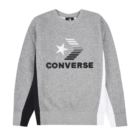 Converse 3D Embriodered Colourblock Crew Boys Sweater