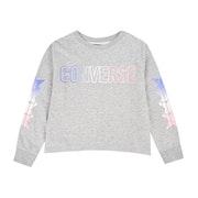 Converse Shark Hem Gradient Ft Crew Girls Sweater