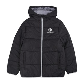 Converse Wordmark Quilted Jacket Boys Jacket - Black