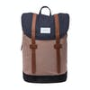 Sandqvist Stig Backpack - Multi Navy / Earth Brown / Black With Cognac Brown