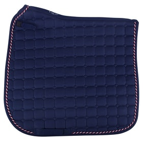 QHP Flags Saddle Pad - Navy Red White