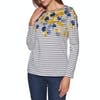 Joules Harbour Print Womens Top - Lilypad Border Stripe