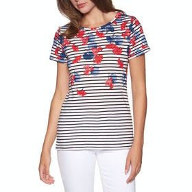 Joules Nessa Print Womens Short Sleeve T-Shirt - Lilypad Border Stripe