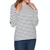 Joules Harbour Jersey Womens Top - Cream Navy Stripe