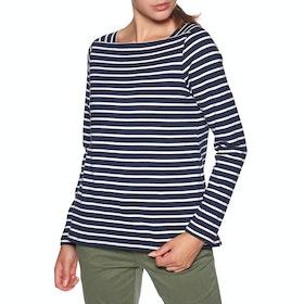 Joules Matilde Women's Long Sleeve T-Shirt - Navy Cream Stripe