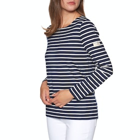Joules Harbour Jersey Dames Top - Navy Cream Stripe