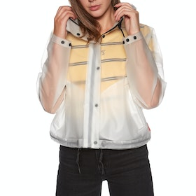 Hunter Original Vinyl Crop Smock Ladies Jacket - White