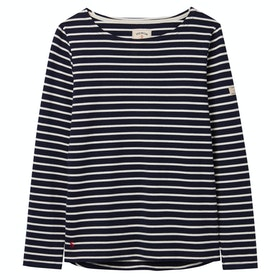 Joules Harbour Jersey Ladies Top - Navy Cream Stripe