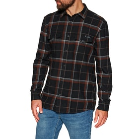 Black Diamond Valley Flannel Shirt - Black Nickel Plaid