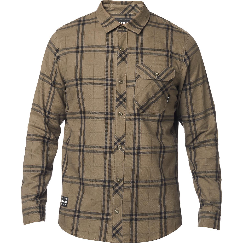 Fox Racing Mens Voyd Flannel Shirt Black//Blue