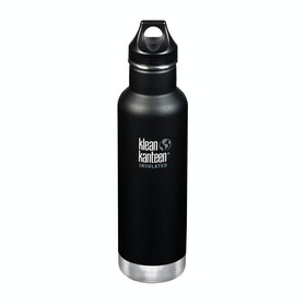 Klean Kanteen Insulated Classic 592ml (w/loop Cap) Water Bottle - Shale Black