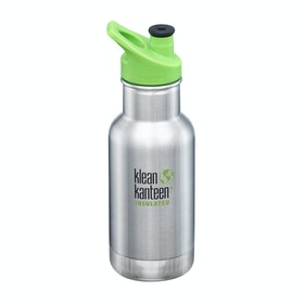Klean Kanteen Insulated Kid Classic 355ml (w/kid Sport Cap) Kids Water Bottle - Brushed Stainless
