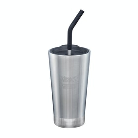 Klean Kanteen Insulated Tumbler 473ml (w/straw Lid) Water Bottle - Brushed Stainless