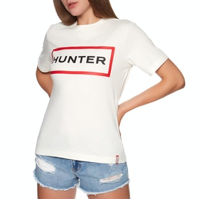Hunter Original Damen Kurzarm-T-Shirt - Logo Print