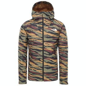 North Face Millerton Waterproof Jacket - British Khaki Tiger Camo Print