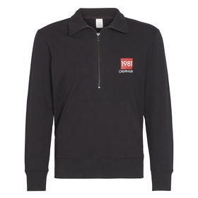 Abbigliamento da Casa Calvin Klein Half Zip Sweatshirt - Black