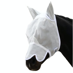 Weatherbeeta with Nose Fly Mask - White