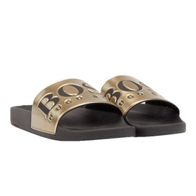 BOSS Solar Men's Sliders - Gold