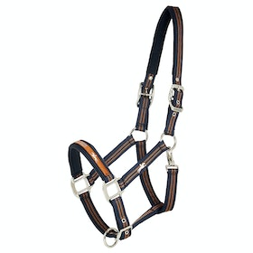 Schockemöhle Memphis Head Collar - Blue Nights Amber Stripe