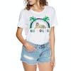 T-Shirt de Manga Curta Senhora Seafolly Ombre Shore Au Soleil Tee - White