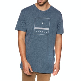 Vissla Overture Kurzarm-T-Shirt - Strong Blue Heather