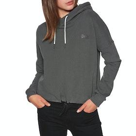 Superdry Orange Label Elite Crop Hood Womens Pullover Hoody - Slate