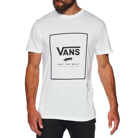 T-Shirt à Manche Courte Vans Print Box - White Black